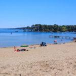 Bronzette et baignade plage de Piqueyrot à Hourtin