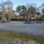 Skate Park d'Hourtin face au lac