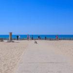 Arrivée sur la plage centrale d'Hourtin