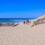 Descente vers la plage centrale de Hourtin Page en gironde