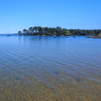 Jolie vue sur une baie du lac de Hourtin en Médoc
