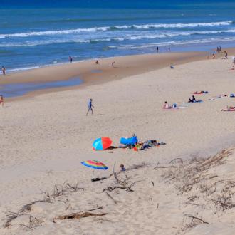 Parasol sur la plage d'Hourtin