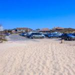Parking de la plage centrale à Hourtin Plage