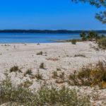 Jolie plage sur le bord du Lac d'Hourtin