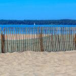 Voilier naviguant face à la plage du port d'Hourtin