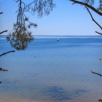 Vue sur le lac à Contaut Piqueyrot