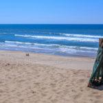 Vagues et surf sur la plage centrale d'Hourtin sur la Côte Aquitaine